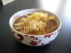 This is the best chicken tortilla soup! I judge all other tortillas soups by it, and none compare.