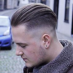Thick Slicked Back Undercut - Best Men's Hairstyles: Cool Haircuts For Guys Mens Slicked Back Hairstyles, Trendy Mens Haircuts, Cool Hairstyles For Men, Undercut Hairstyles, Cool Haircuts, All Back Hairstyle, Ladies Hairstyles, Men's Haircuts, Men's Hairstyles