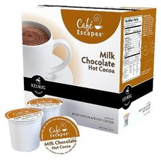Cafe Escapes Dark Chocolate Hot Cocoa Keurig K-Cups, 16 Count ** Unbelievable product right here! : K Cups Mocha, Keurig Recipes, Best Coffee Maker, Cocoa Chocolate, K Cups, Coffee Pods, Gourmet Recipes, Cool Things To Buy, Just For You