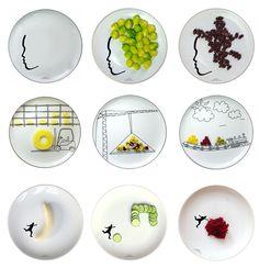 Uitzonderlijk Gebakjes bordjes versiert met porselein stiften. Thema feestje  WN-14