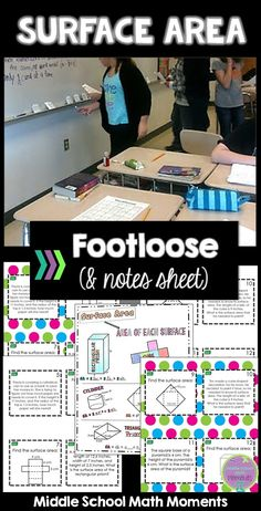 Looking for a fun way to practice surface area concepts? Keep your students engaged and practicing with Surface Area Footloose! Notes sheet included.