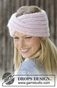 Cable Knitting Patterns, Knitting Blogs, Knit Patterns, Free Knitting, Knitting Wool, Knit Headband Pattern, Knitted Headband, Knitted Hats, Bonnet Crochet