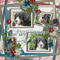 Layout of the Day - Samson by kpmelly (Digital Scrapbooking Standout for Oct 2, 2015) created with Party Pieces Template Grab Bag and 100% Cherished Kit by Seatrout Scraps