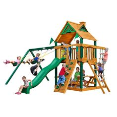 Gorilla Playsets Chateau w/ Timber Shield and Standard Wood Roof
