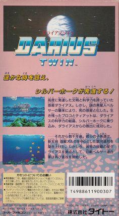 Darius Twin - Super Famicom back sleeve