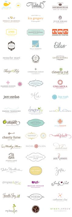 great logo design - I like the type used on rensche mari / cristina coco / adelina / leslie harris / zenia