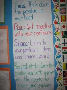 Think Pair Share Poster to make for the beginning of the year