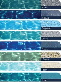 Pool Plaster Color Chart New Pool Water Color Chart Swimming Pool Colors Pool Water Color Chart Of Pool Plaster Color Chart Beautiful Pool Water Color Chart Pool Finish Colors Grey Coping Pools Plaster Small Backyard Pools, Backyard Pool Designs, Small Pools, Outdoor Pool, Backyard Pool Landscaping, Infinity Pool Backyard, Small Inground Pool, Backyard Beach, Backyard Fences