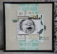 Smile - baby scrapbooking idea