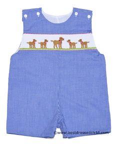 Auburn Vive La Fete Smocked Jon Jon Auburn Baby Clothes Baby Boy