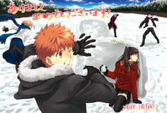 Fate shirou x rin x archer saber Lancer Hinata, Fan Art Anime, Tohsaka Rin, Shirou Emiya, Fate Stay Night Anime, Fate Servants, Fate Anime Series, Fate Zero, Best Waifu