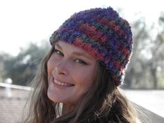 Hey, I found this really awesome Etsy listing at https://www.etsy.com/listing/269285224/hand-loom-knit-beanie-bright-multi