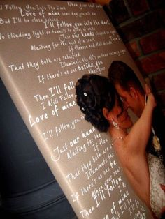 Photo Words Engaged Anniversary Canvas and Modern Ketubah CUSTOM TEXT Wedding, Vows,12x16