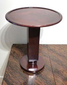 table De Fumeur   De Jules Leleu , Noyer , 1936 , Art Déco, Galerie Carré Rouge, Proantic