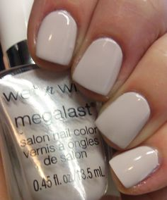 Spoiled by Wet n Wild A Latte Love (exact same as MegaLast) nails Classy Nails, Fancy Nails, Pretty Nail Colors, Pretty Nails, Blush Pink Nails, Different Nail Designs, Nail Blog, Manicure Y Pedicure, Hair Skin Nails