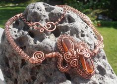 My new Viking knit necklace (the length is 20inches). This necklace is made out of different thickness natural copper (antiqued) jewellery wire and beautiful 2 piees of orange brown sea glass from Cape Breton. Price is 80$ (+4$ S/H if mailed). for more designs www.facebook.com/petra.leblanc