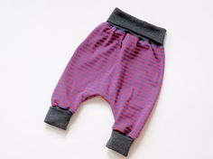 Red blue striped baby harem pants. Sarouel trousers. Baby Clothing. Pants for boys and girls. on Etsy, $33.76