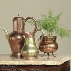 Antique Copper | Culinary Antiques | 19th Century French Copper Pots