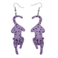 """Erstwilder Limited Edition Chatting Cheetahs Earrings. """"A cheetah amongst cars is like a rocket amongst jets. And don't you forget it."""""""