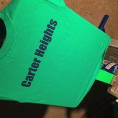 #carterheights @gildanonline #irishgreen #tees for the kids #chelseamass #printit