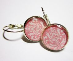 Stunning Pink and White Damask Silver by MyBlossomCouture on Etsy
