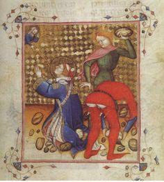 il martirio di Santo Stefano, miniatura, 1350-1378, Parigi, Biblioteca Nazionale.   Loving the braies flash. ;)
