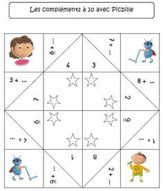 Cocotte compléments à 5 et 10 Math 2, 1st Grade Math, Grade 1, Math Addition, Addition And Subtraction, Book Activities, Diy Paper, Kids Rugs, Cycle 2