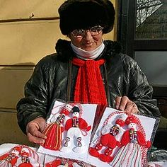Bulgaria: Baba Marta Comes to Bulgaria After Non-Existent Winter Baba Marta, Cultural Crafts, Magic Day, Wedding Mugs, Pressed Flower Art, Old Dolls, My Heritage, Diy And Crafts, Manualidades