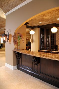 Mediterranean Basement Design Ideas, Pictures, Remodel and Decor