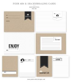 Free Journaling Cards #freeprintables