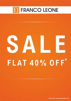 End of Season sale at Franco Leone - Amanora Town Centre