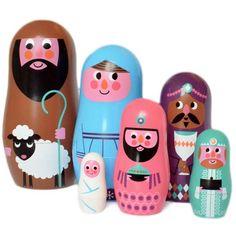Poupées Russes Crêche - Christmas Matryoshka par Ingela P Arrhenius