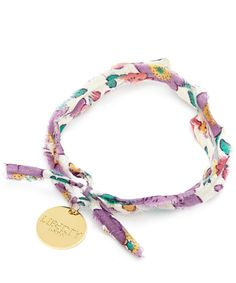 Flowers of Liberty Betsy Liberty Print Disc Charm Bracelet