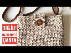 Crochet Bag Tutorials, Crochet Crafts, Crochet Projects, Crochet Designs, Crochet Patterns, Crochet Clutch Bags, Crochet T Shirts, T Shirt Yarn, Double Crochet