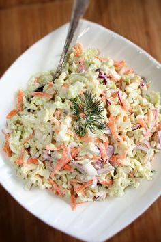 Anti Pasta Salads, Pasta Salad Recipes, Raw Food Recipes, Cooking Recipes, Sandwiches, Polish Recipes, Side Salad, Tzatziki, Healthy Salads