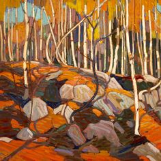 """Thomas John """"Tom"""" Thomson was an influential Canadian artist of the early century. He directly influenced a group of Canadian painters that would come to be known as the Group of Seven. (Wikipedia) (""""The Birch Grove"""" by Tom Thompson) Emily Carr, Group Of Seven Artists, Group Of Seven Paintings, Landscape Quilts, Landscape Art, Landscape Paintings, Canadian Painters, Canadian Artists, Art Gallery Of Hamilton"""