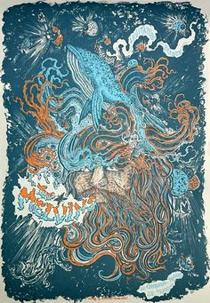 Image of THE MELVINS (Levitation France 2015) screenprinted poster