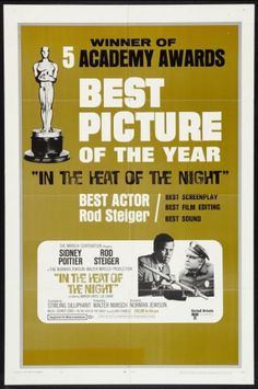 sidney poitier movie poster | One sheet movie poster: Sidney Poitier and Rod Steiger in In the Heat ...