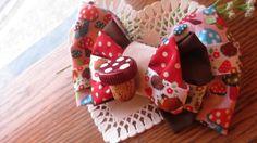 Mori Girl Woodland Magic Mushroom Upcycled Triple by RootsofBayer, $22.00 #etsybows #boebot #RT