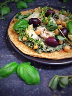 chickpea pizza with