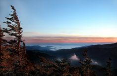 From summit of Mt. LeConte, GSMNP