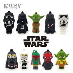 Easy Learning Cartoon Star Wars USB Flash Drives 4GB 8GB 16GB 32GB 64GB USB 2.0 Pendrives Pen Drive Memory Stick