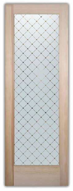 Fleur Diamonds Etched Glass Front Doors Victorian Design - custom etched glass doors in any decor! Asian or Contemporary to Mediterranean & Traditional!