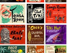 """★★★ INSTANT DOWNLOAD ★★★  Inspired by 1950s and 1960s matchbook covers, these images offer a touch of Exotica for your next project. Each image has been artfully restored and formatted for exceptional home printing.  IMAGE SIZE: Smallest 2.25 x 2, Largest 2.25 x 3 PRINT SIZE: Prints on 8.5"""" x 11"""" (size A4) paper.  CHECK OUT our other set of TIKI Images: www.etsy.com/listing/241345845  INSTANT DOWNLOADS: Once checkout is complete and payment is confirmed, you will have instant access..."""