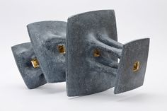 "HOLLÓ, István (Hungary) - ""A kind of blue"", 2013, handbuilt chamotte stoneware."
