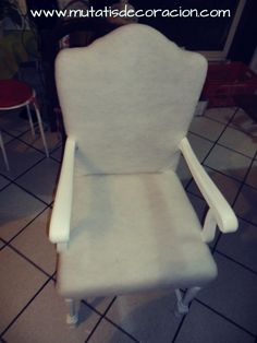 cómo-tapizar-butaca-rústica Diy Crafts, Chair, Furniture, Vintage, Home Decor, Ideas Para, Chair Upholstery, Wooden Crafts, Chairs
