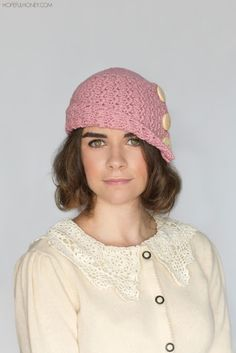 1920's Rosebud Cloche Hat Crochet Pattern