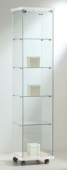 www.shopeinrichtung.com - Vitrine-ECO-fahrbar-B40H180-Holzdach--absperrbar Decor, Shelves, Shelving Unit, Home Decor, Shelving