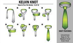 18 Formas de Anudar la Corbata
