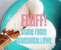 Homemade fluff from marshmallows